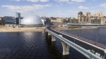 Construction of a new bridge to Krestovsky Island aligned with Yakhtennaya Street