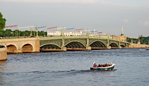 Troitsky Bridge across the Neva