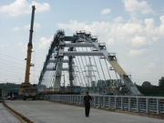 St. Petersburg Ring Road. The bridge across the Okhta River under construction (2003)