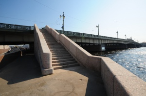 Traffic Junction at the Right-Bank Ramp of Liteiny Bridge across the Neva River