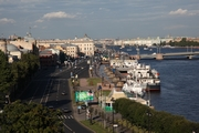 Blagoveschensky Bridge across the Big Neva River in St. Petersburg