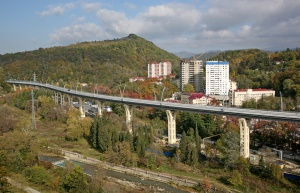 Back-up of Kurortny Prospect in Sochi